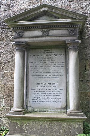 William Muir - Sir William Muir's grave, Dean Cemetery