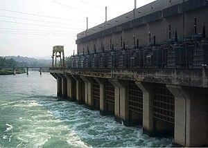 Sirikit Dam - The dam's power station at its base