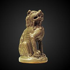 figurine of a sitting lion