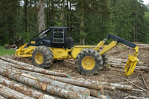 Skidder - Modern dual function grapple skidder