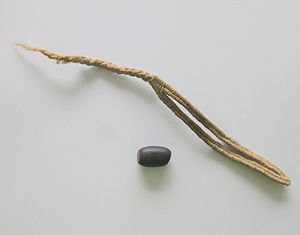 Muisca warfare - Slings of woven cotton with stones were used by the guecha warriors in battle
