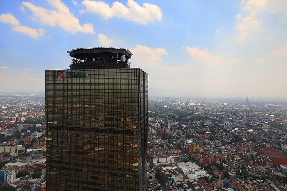Torre Pemex es de los rascacielos más altos en México.