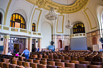 Sofia University - Aula of Sofia University in the Rectorate, the university main building