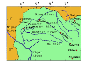 Sokoto Caliphate - The Sokoto-Rima river system