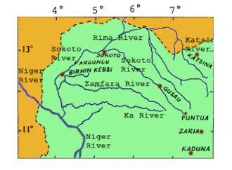 Sokoto Caliphate - The Sokoto-Rima river system