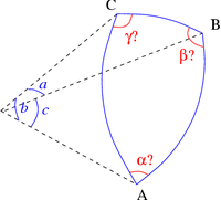 Solve spherical triangle with a b c.png