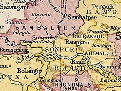 Location of Sambalpur