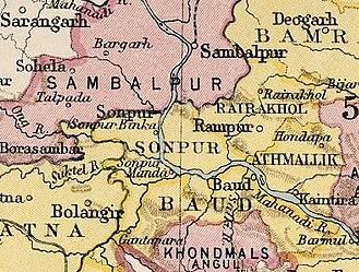 Sonepur State - Sonepur State in the Imperial Gazetteer of India