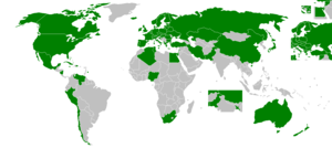 Sopot International Song Festival - The map shows countries who participant in Sopot International Song Festival.