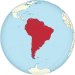 South America on the globe (red).svg