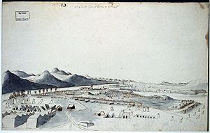 Fort Crown Point - Image: South view of crown point 1760