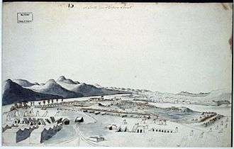 Crown Point, New York - A south view of Crown Point 1760 by Thomas Davies