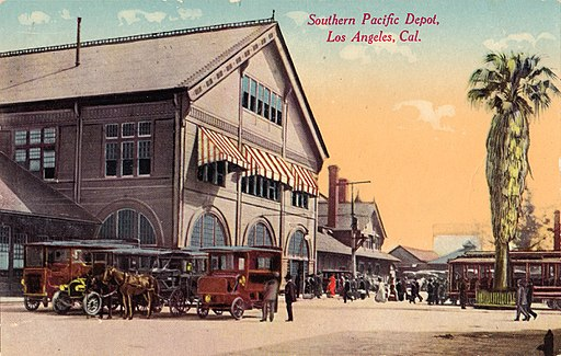Southern Pacific Depot, Los Angeles, Cal. postcard