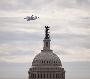 Space Shuttle Discovery Flown Over the U.S. Capitol.jpg