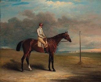Spaniel (horse) - Spaniel and jockey, by John E. Ferneley.