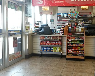 Speedway LLC - Speedway front counter and cigarette display in Hobart, Indiana