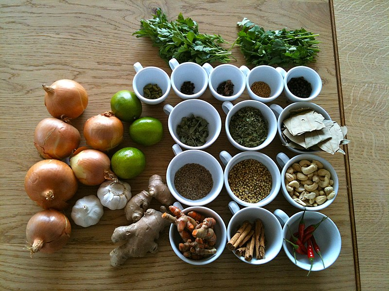 File:Spices, seasonings, herbs and vegetables.jpg