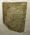 Spiez, église du château. Dalle funéraire de Jeanne de La Sarraz, seconde épouse de Adrian I von Bubenberg.jpg