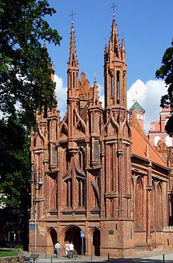 St. Anne's Church in Vilnius (Wilno).JPG