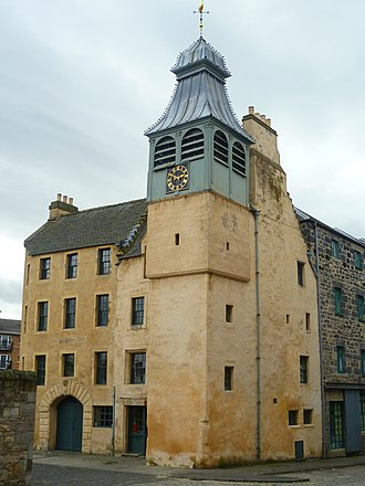 Burning of Edinburgh - St Ninian's Chapel at the Bridgend was burnt in May 1544. The attached manse still stands.