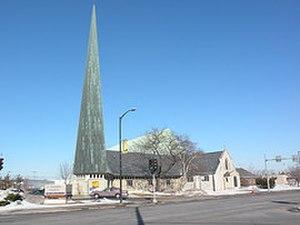 St Thomas' Episcopal Church, (Menasha, Wisconsin) - St. Thomas from the southeast.