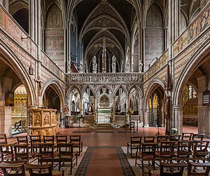 St Augustine's, Kilburn - Image: St Augustine's Church, Kilburn Interior 2, London, UK Diliff