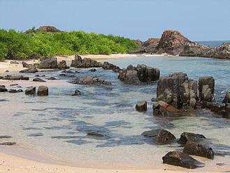 St. Mary's Islands - Image: St Mary's Island rocks
