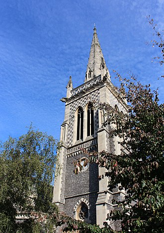 Ipswich - The St. Mary-le-Tower is a large church in the town centre and the second tallest building in Ipswich