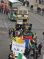 St Patrick's Day Parade 2015 - Digbeth - NXWM buses old and new - marchers (16826270145).jpg