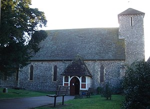 St Peter's Church, Preston Village, Brighton - James Woodman added a porch on the north side in 1872.