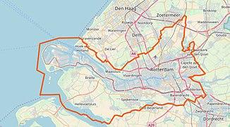 Stadtoregio Rotterdam OMS limites