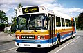 Stagecoach bus 512 Leyland National II DMS 20V in Abergavenny, Monmouthshire May 1997.jpg