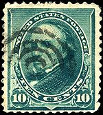Daniel Webster on 10c stamp of 1890