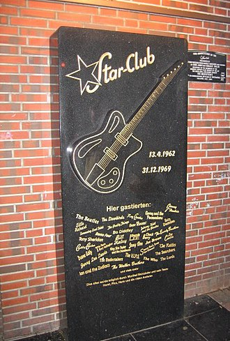 Star-Club - The Star-Club memorial in St. Pauli, Germany.
