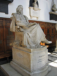 Statue of Lord Tennyson in the chapel of Trinity College, Cambridge.