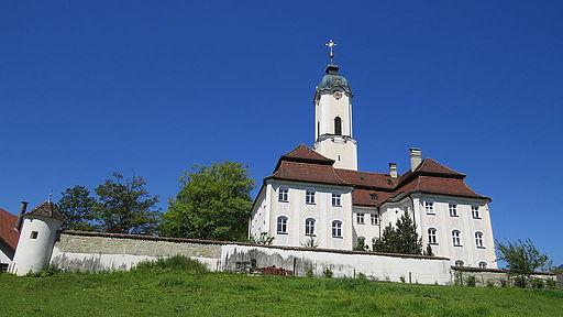 Prälatenhaus Wieskirche (Wallfahrtsmuseum in der Wies), Steingaden - Wieskirche u Pfarramt v O, Mauer 01