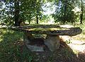 Steintisch beim alten Rastplatz 'Eichen und Linde' von 1871 - panoramio.jpg