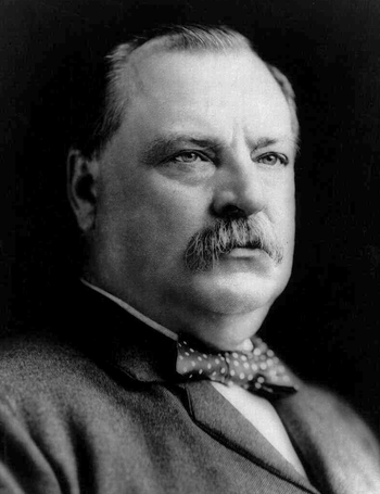 English: Hon. Grover Cleveland, head-and-shoul...