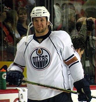 Steve MacIntyre - MacIntyre with the Oilers, April 2009.