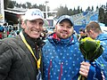 Steven Holcomb with eye surgeon Brian S. Boxer Wachler, MD Winter Games 2010.jpg