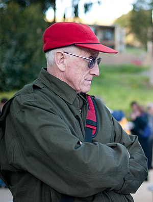Stewart Brand - Brand listening in Sausalito, California, in 2009.