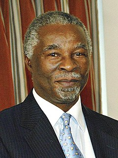 Thabo Mbeki South African politician, President of South Africa