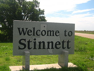 Stinnett, Texas - Stinnett welcome sign near the intersection of Texas Highways 207 and 152