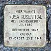 Stolperst koelner strasse 71 rosenthal rosa