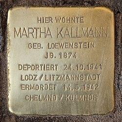 Photo of Martha Kallmann brass plaque