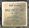 Stolperstein Friedrichstr 34 (Kreuz) Max Matschke.jpg