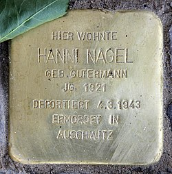 Photo of Hanni Nagel brass plaque