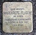 Stolperstein Landshuter Str 33 (Schön) Margarete Flatow.jpg