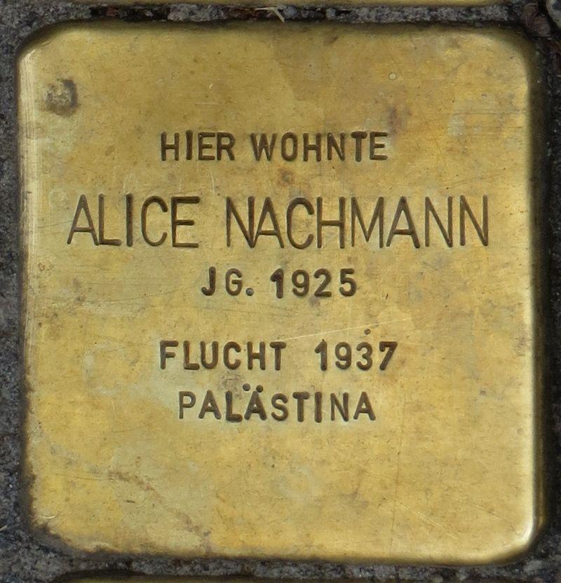 Stolperstein Rastatt Alice Nachmann.jpg