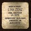 Stolperstein Schirnerstr 28a (Altgl) Lina Zenz.jpg